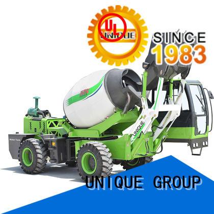 UNIQUE loader concrete truck mixing to discharge for concrete production