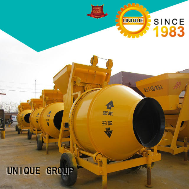 long lasting twin shaft mixer plant with discharging system for concrete products