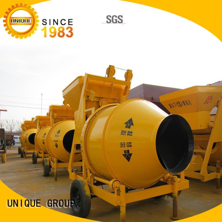 UNIQUE machine twin shaft mixer with water supply system for project
