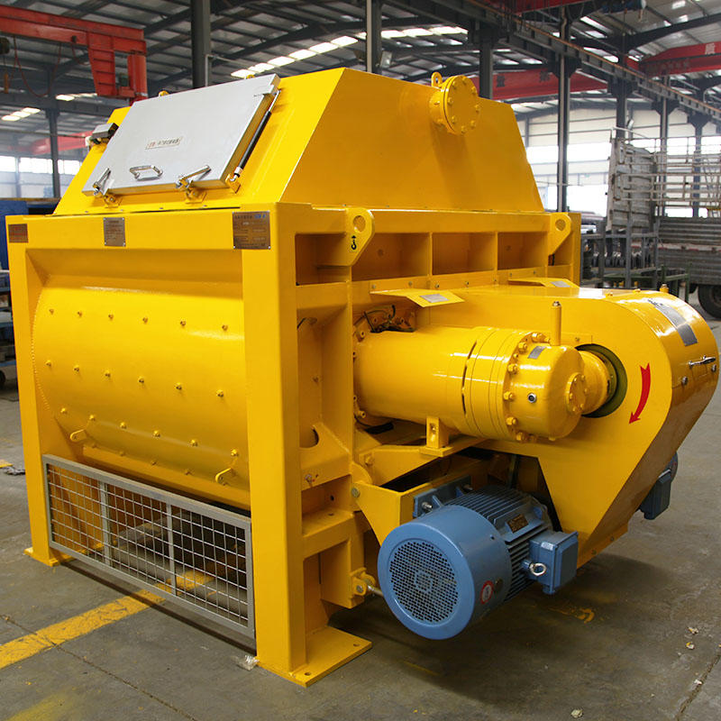Twin Shaft Concrete Mixer Machine