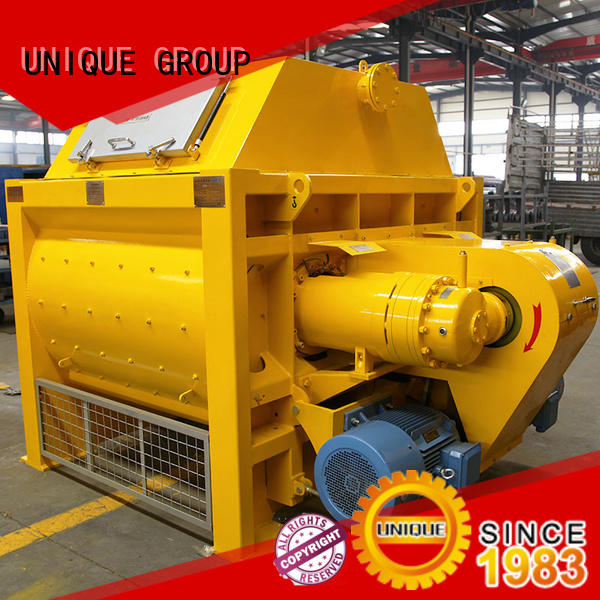 long lasting concrete mixing plant twin with feeding system for hard-dry concrete