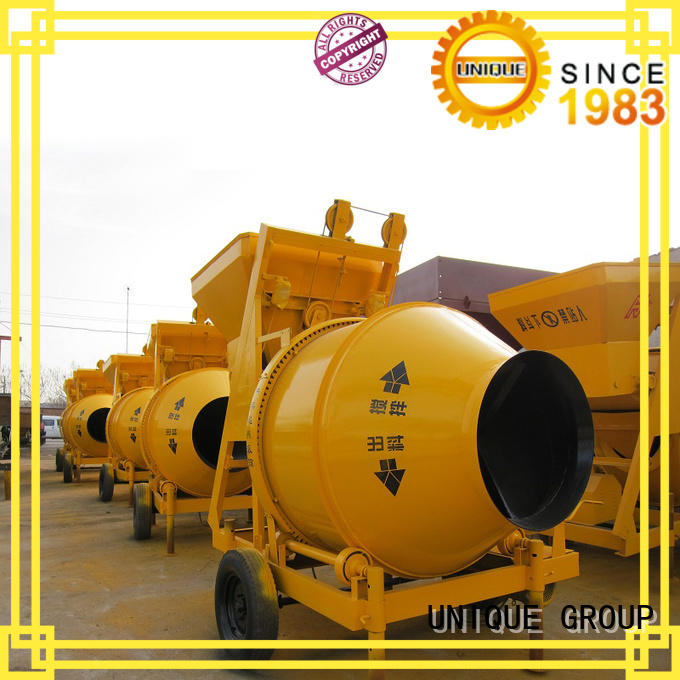 UNIQUE easy use cement mixer machine with feeding system for project
