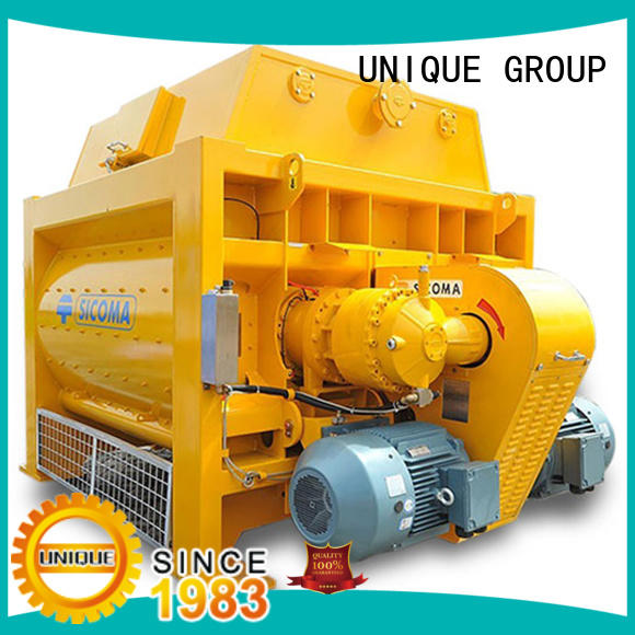 UNIQUE easy use concrete mixing plant with water supply system for project