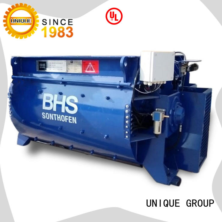 UNIQUE drum concrete mixing plant with water supply system for project