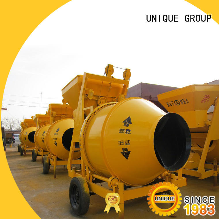 UNIQUE long lasting concrete mixer for sale with water supply system for project