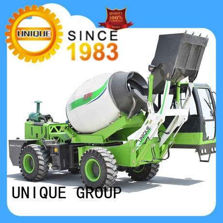 UNIQUE self loader concrete mixer automatic feeding for construction site