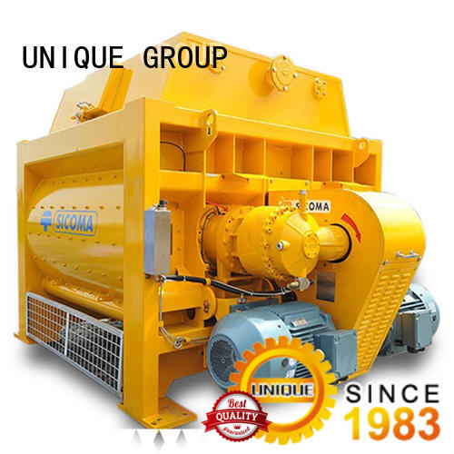 UNIQUE long lasting twin shaft mixer with discharging system for light aggregate concrete