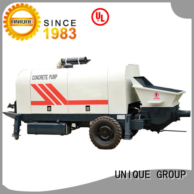 UNIQUE trailer concrete pumping equipment online for water conservancy