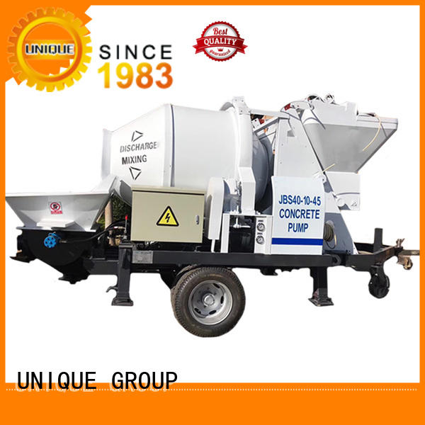 UNIQUE professional concrete trailer pump supplier for hydropower engineering