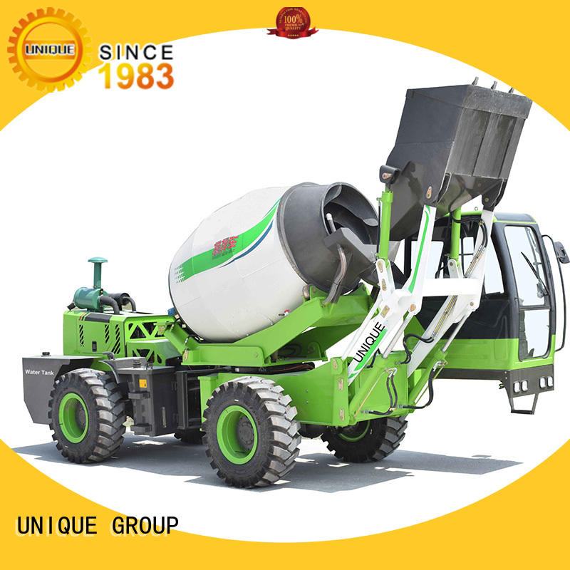 UNIQUE self loading concrete mixer automatic feeding for project