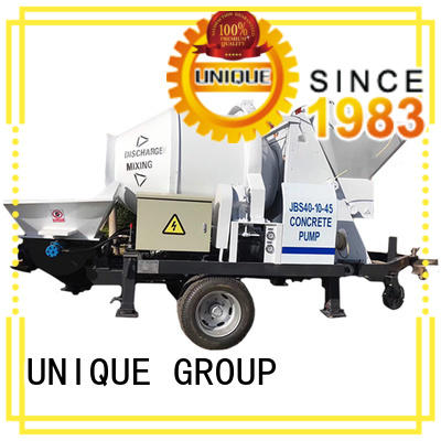 UNIQUE trailer concrete pump supplier for water conservancy
