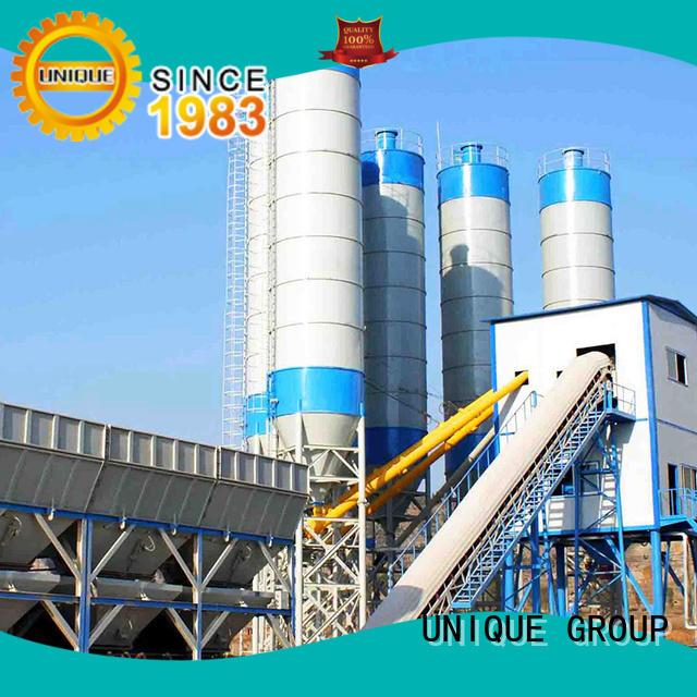 UNIQUE stable mobile concrete batching plant ready for bridges