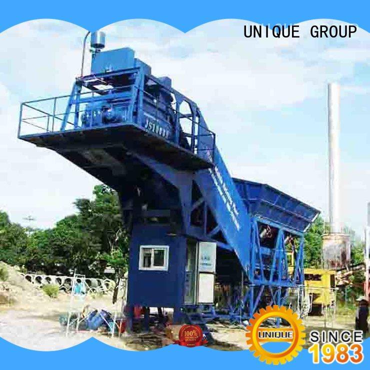 UNIQUE economical mobile concrete plant at discount for air port