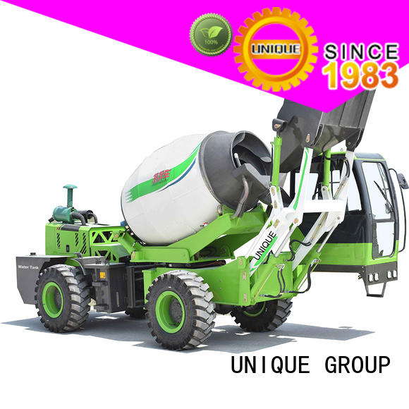 UNIQUE convenient self loader concrete mixer automatic feeding for project