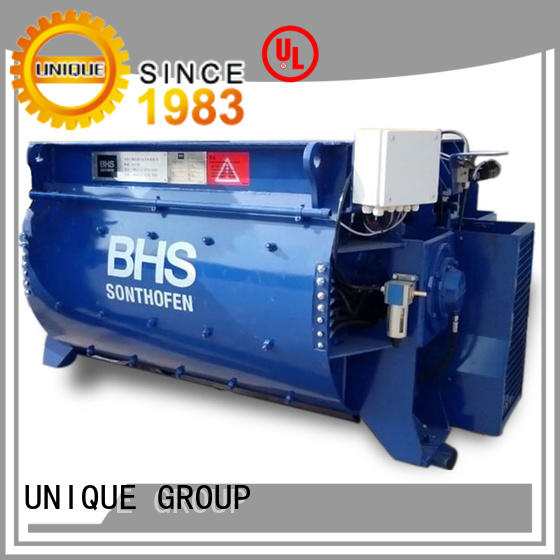 UNIQUE long lasting stationary concrete mixer with discharging system for project