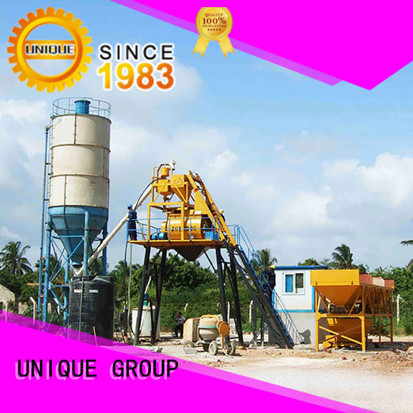 UNIQUE engineering concrete batching mixer at discount for road