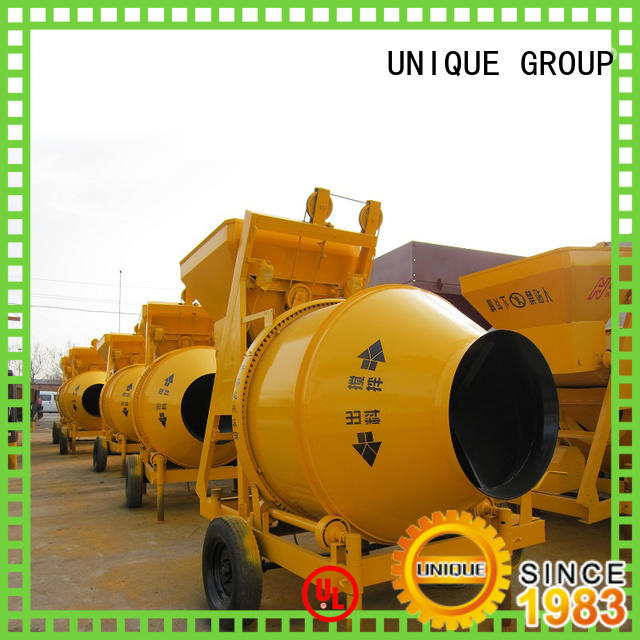 UNIQUE long lasting concrete mixers with discharging system for concrete products