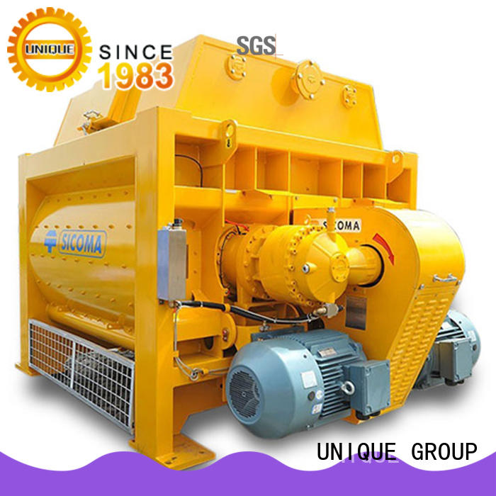 UNIQUE long lasting concrete mixing equipment with discharging system for concrete products
