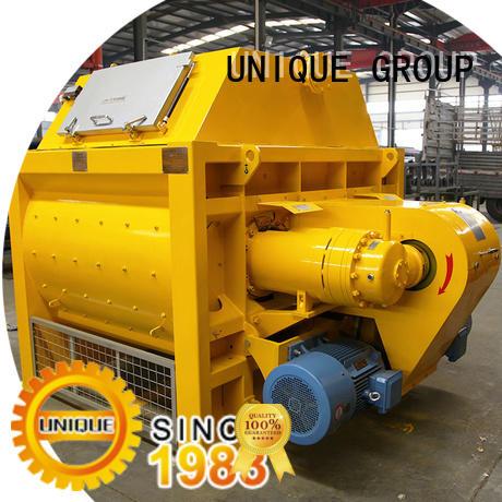 UNIQUE mix concrete mixers with discharging system for hard-dry concrete