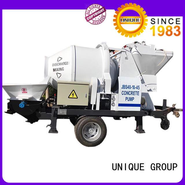 UNIQUE trailer concrete pump machine supplier for roads