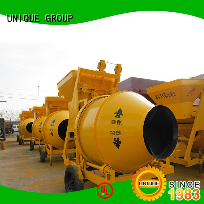 UNIQUE stronger concrete mixing plant with feeding system for hard-dry concrete