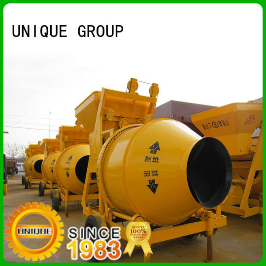 UNIQUE mixer twin shaft mixer with feeding system for light aggregate concrete