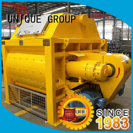 UNIQUE easy use stationary concrete mixer with discharging system for light aggregate concrete