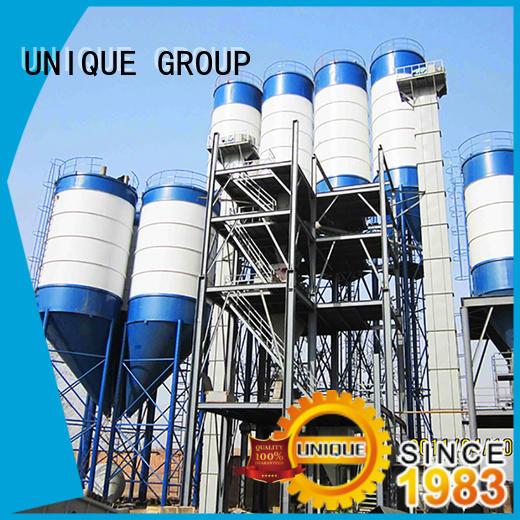 UNIQUE compact structure dry mix concrete plant simple process for mortar