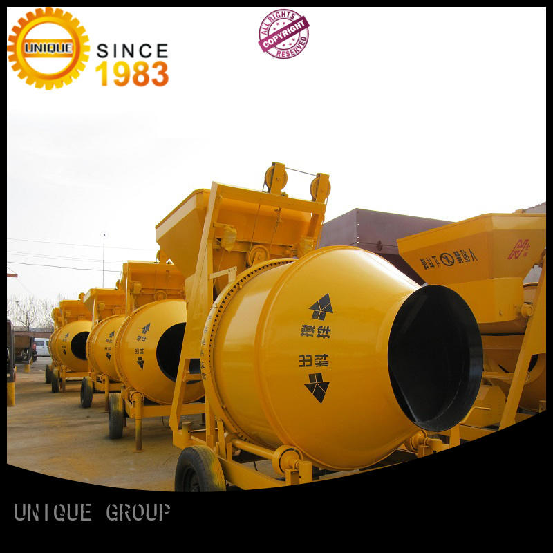 UNIQUE higher efficiency concrete mixer for sale with water supply system