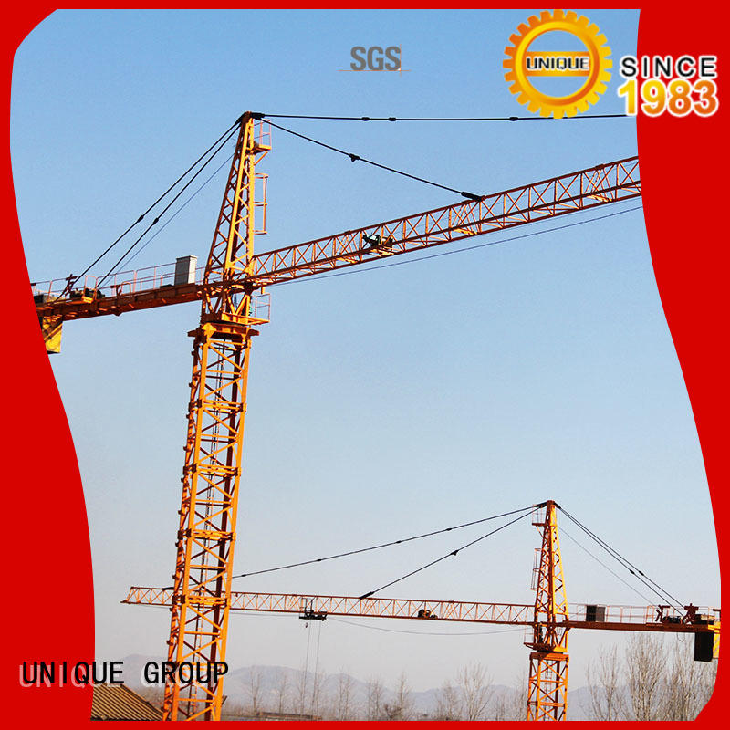 UNIQUE speed-control stationary crane supplier for construction site