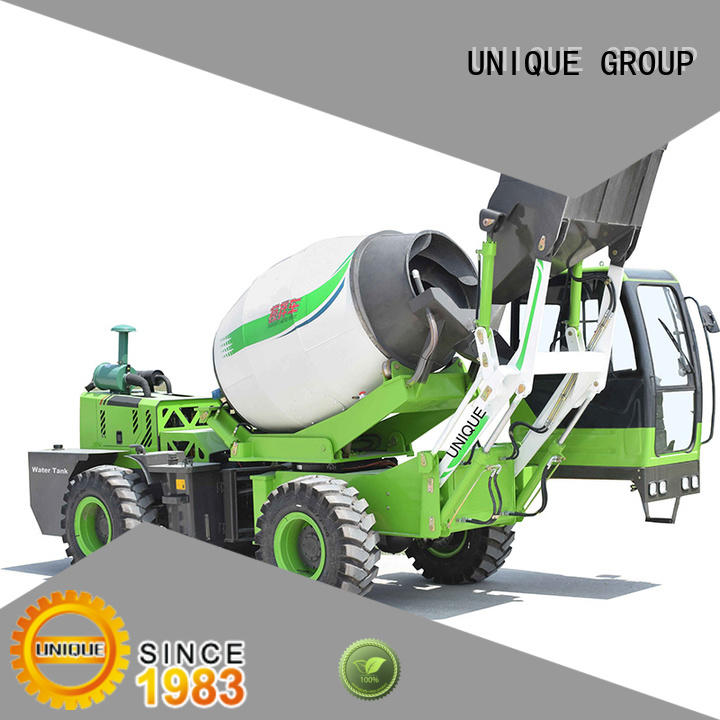UNIQUE small volume concrete mixer truck metering for construction site