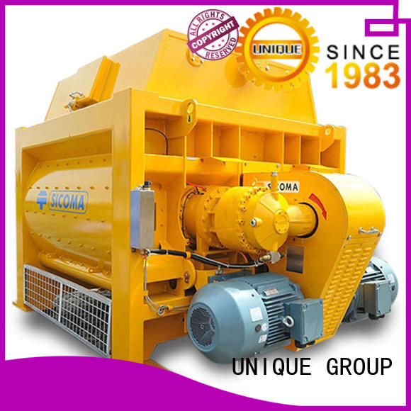 easy use concrete mixing equipment with feeding system