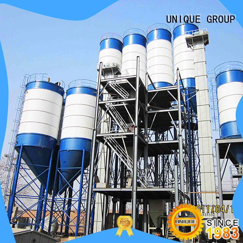 UNIQUE compact structure dry mortar plant simple process for mortar