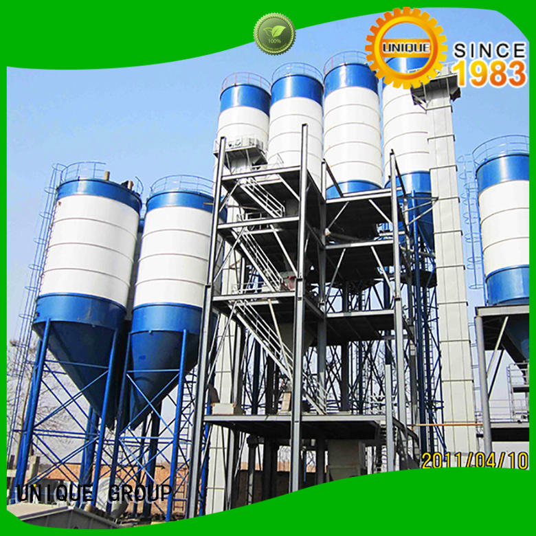 unique design dry mix concrete plant mix environmental protection for project