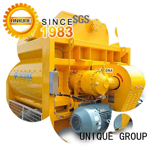 UNIQUE concrete mixing equipment with water supply system for hard-dry concrete