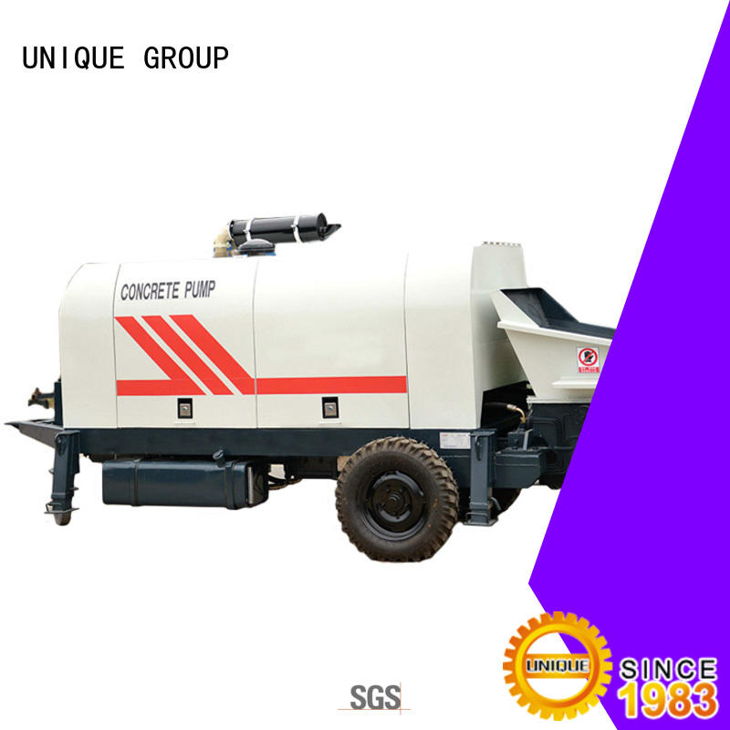 UNIQUE trailer concrete pumping machine supplier for roads