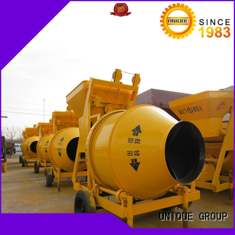 UNIQUE stronger concrete mixer for sale with feeding system for hard-dry concrete
