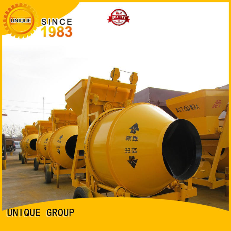 UNIQUE mix concrete mixers with discharging system for hard-dry concrete