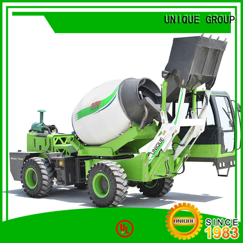 UNIQUE loader cement mixer truck mixing to discharge