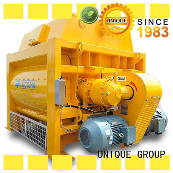 UNIQUE concrete mixers with feeding system