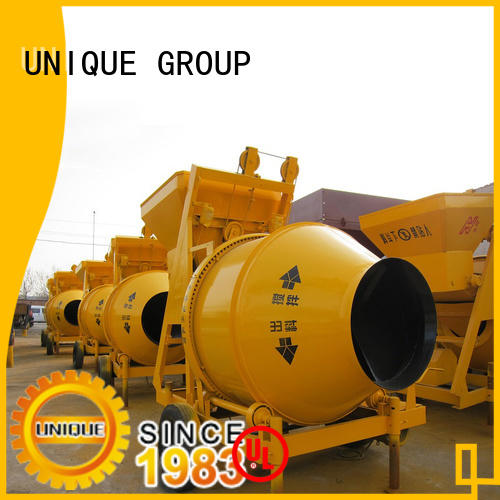 UNIQUE cement mixer machine with feeding system for light aggregate concrete