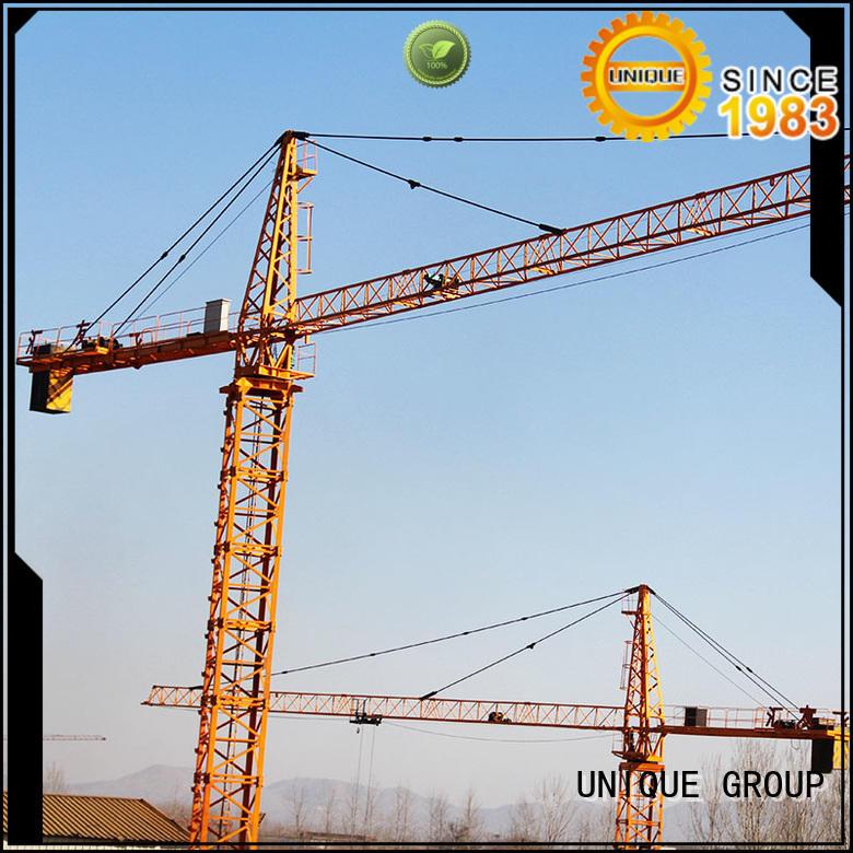 UNIQUE tower construction crane supplier for industrial buildings