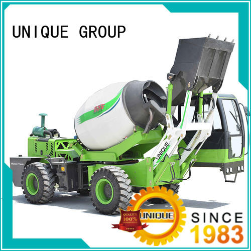 steering cement mixer truck loader automatic feeding for project