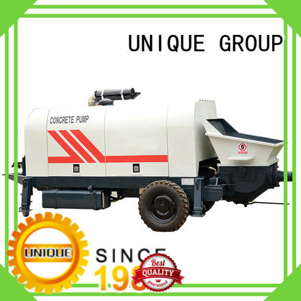 UNIQUE stable concrete trailer pump directly sale for water conservancy