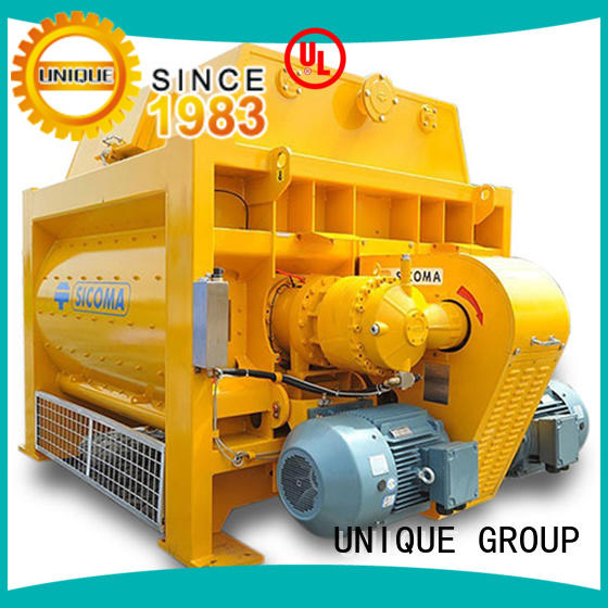 UNIQUE easy use twin shaft concrete mixer mixer for project
