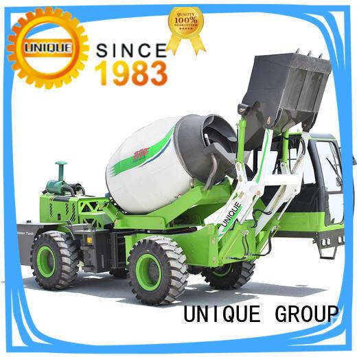 UNIQUE convenient cement mixer truck automatic feeding for construction site