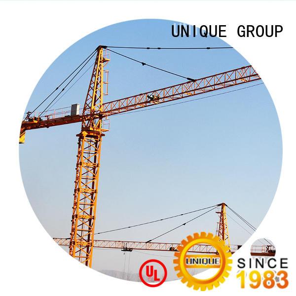 UNIQUE tower construction crane supplier for construction site