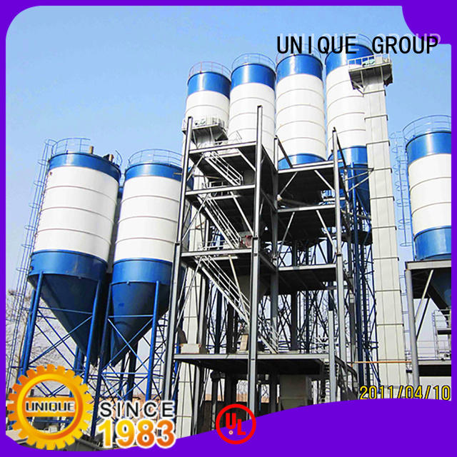 UNIQUE compact structure dry mix mortar plant environmental protection for project