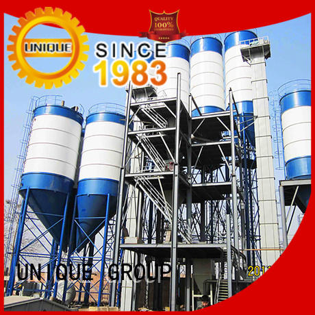 full computer control dry mix concrete plant energy-saving for project