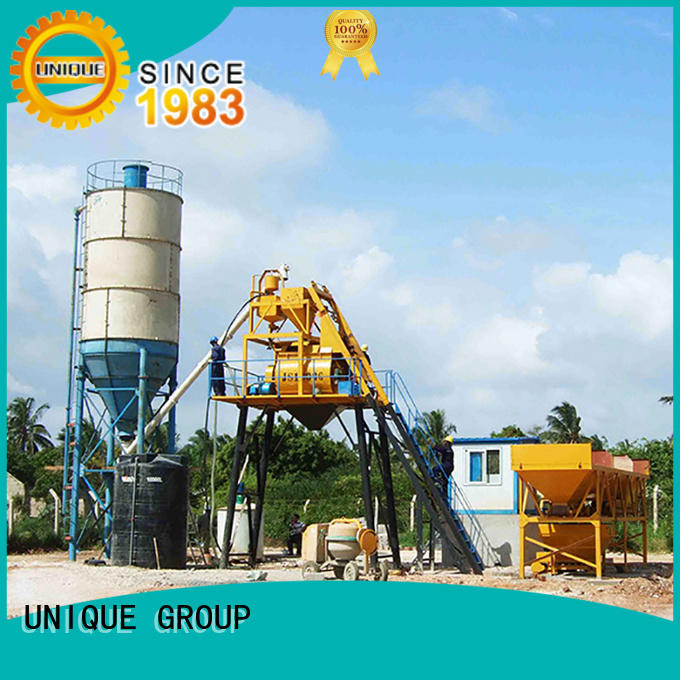 UNIQUE mix batch mix plant manufacturer for road